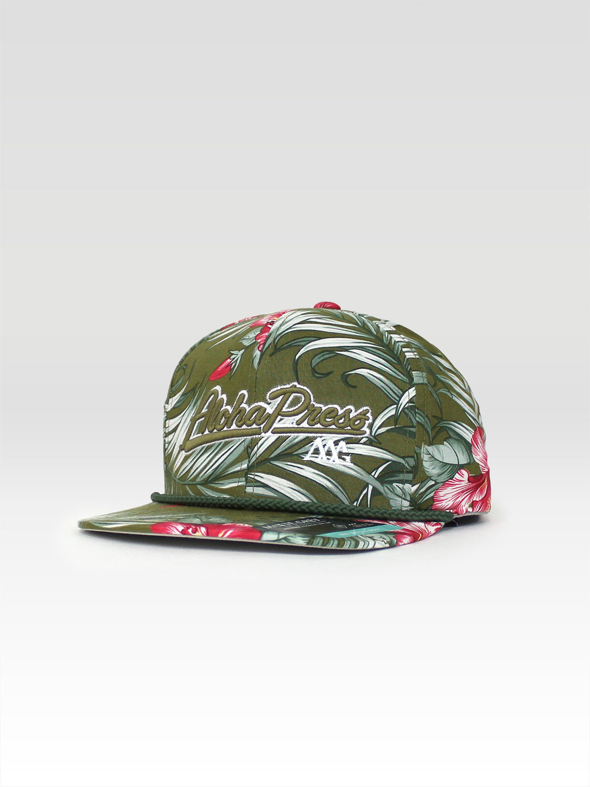 Aloha Press Strapback - Olive (Olive / White)