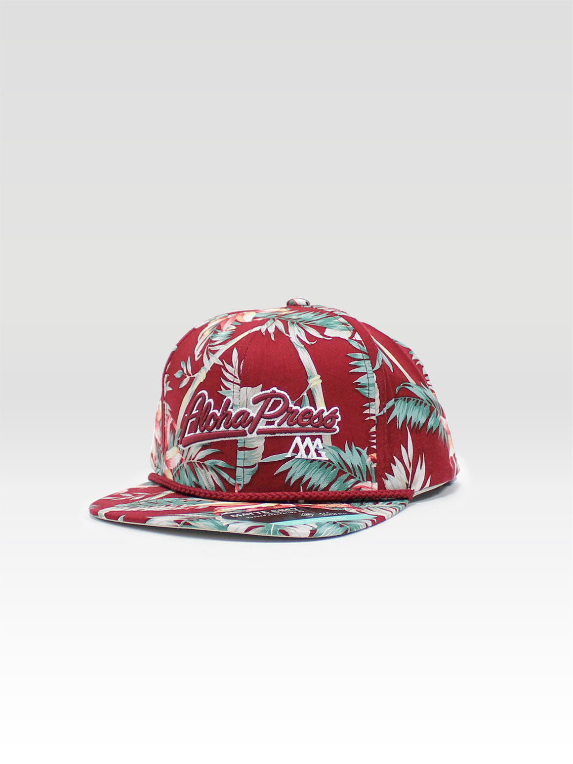Aloha Press Strapback - Maroon (Maroon / White)