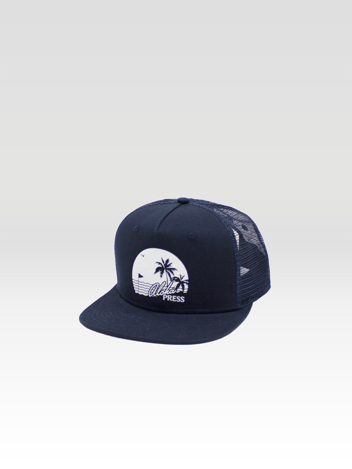 Island Trucker - Navy (White)