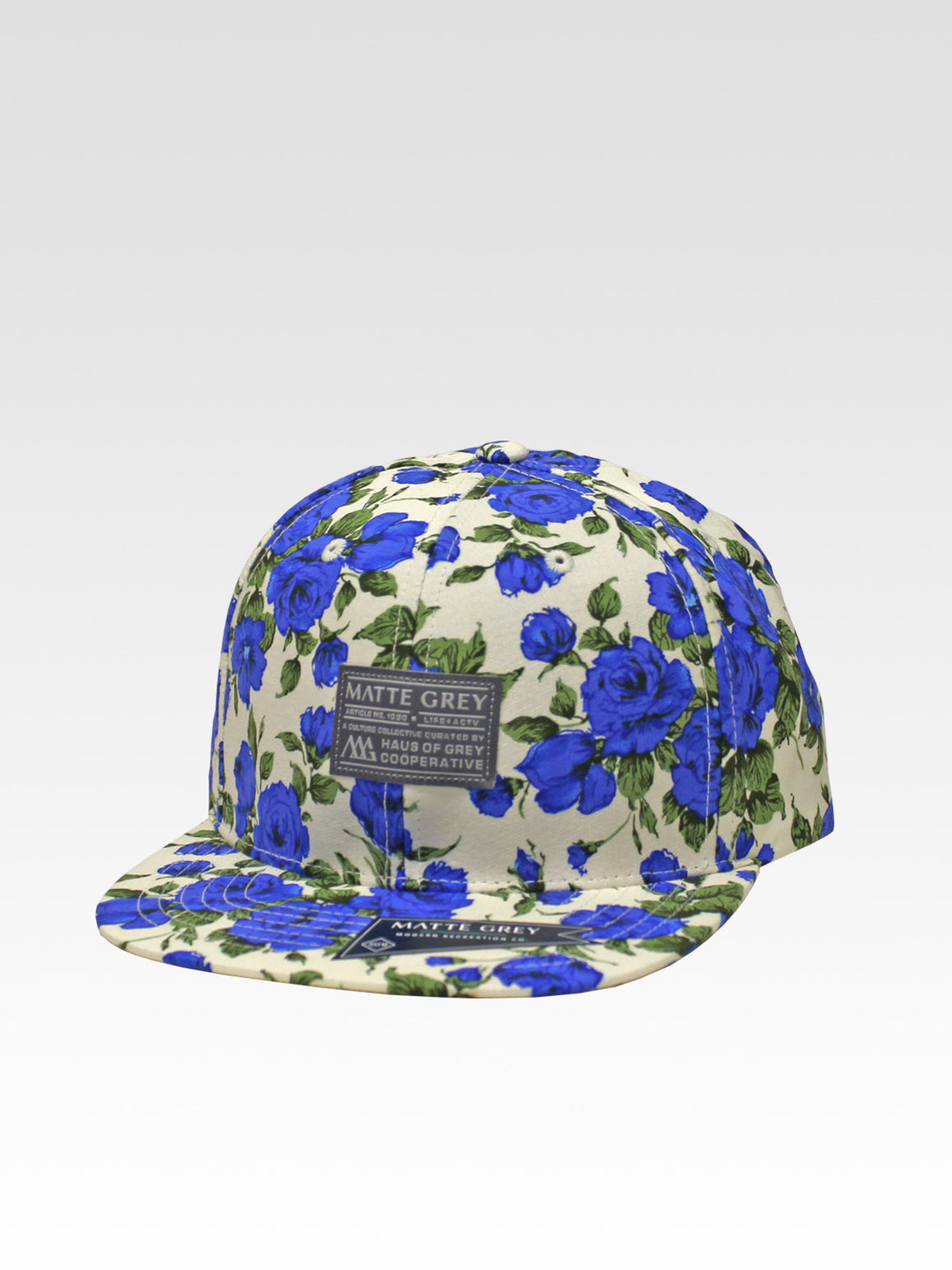 Badge Aloha Strapback - White (Blue / White)
