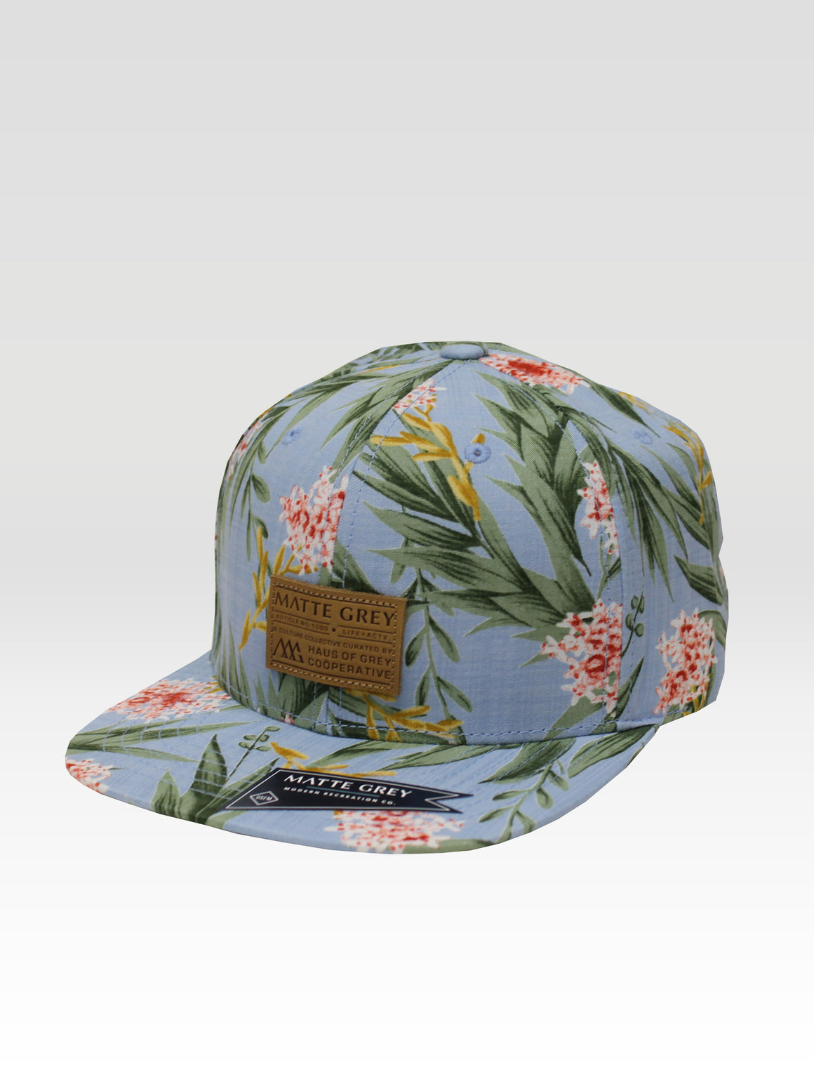 Premium Badge Aloha Strapback - Sky (Green / Peach)
