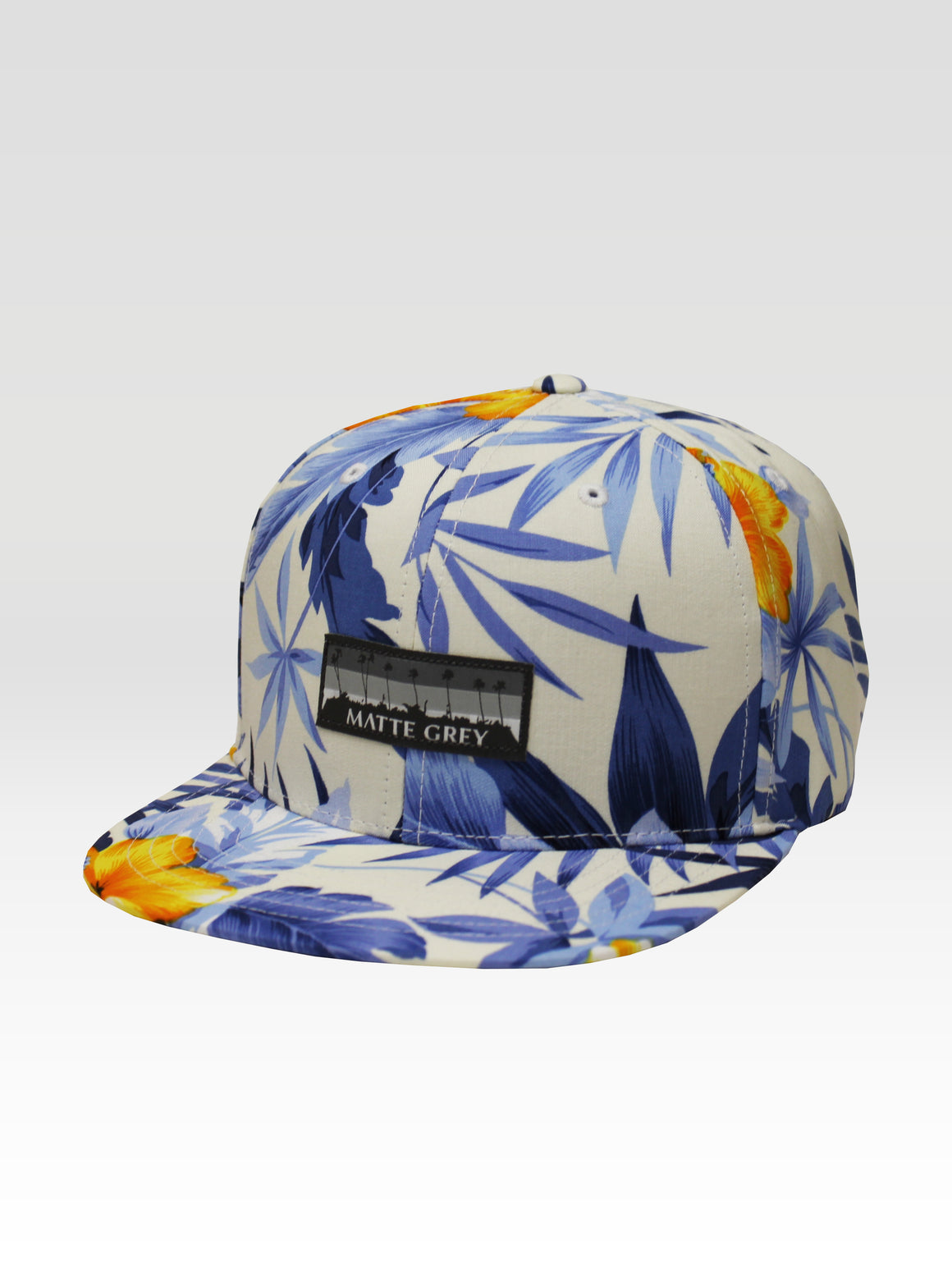 9 Palm Horizon Aloha Strapback - White (Blue)