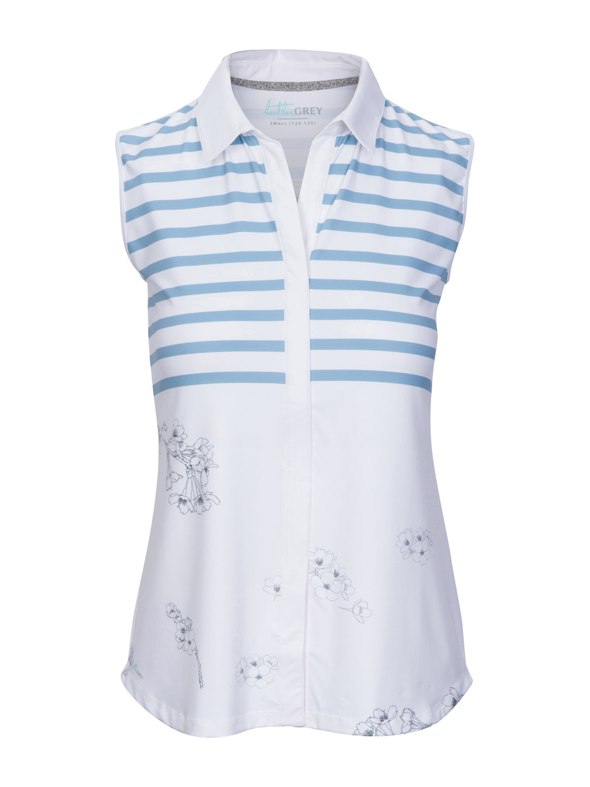 Holly Sleeveless - White (Air Force / Print)