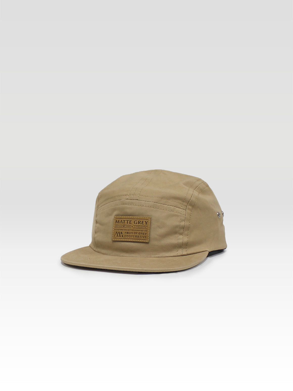 Weekender Premium Badge 5Panel - Washed Khaki