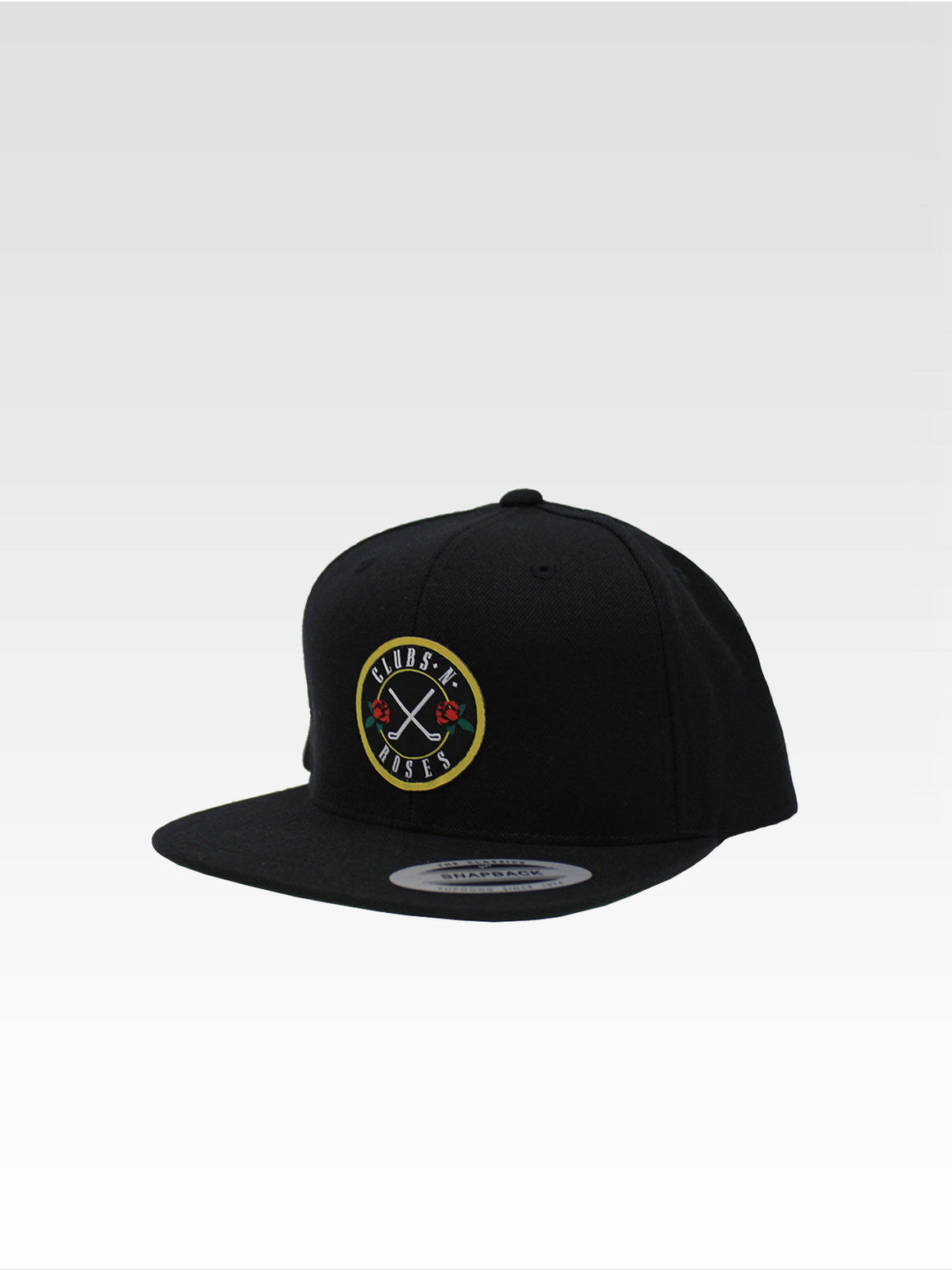 Clubs N' Roses Snapback - Black (White)