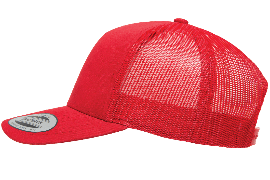 Social Distance Long Drive Trucker - Red (White)