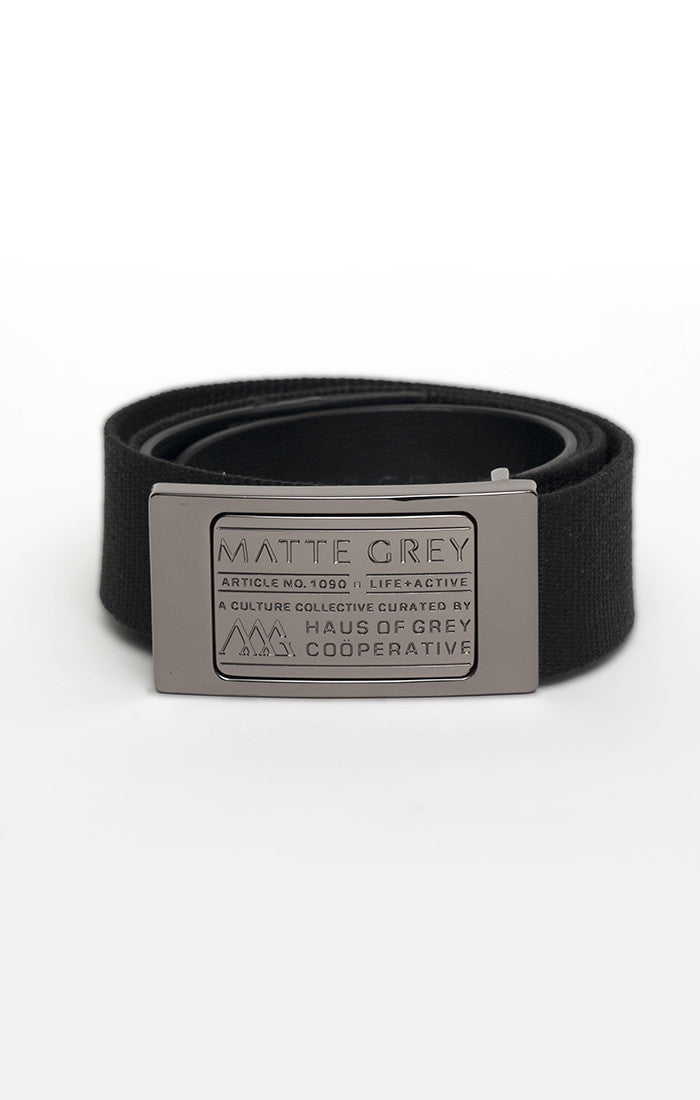 Badge Belt - Gunmetal (Black)