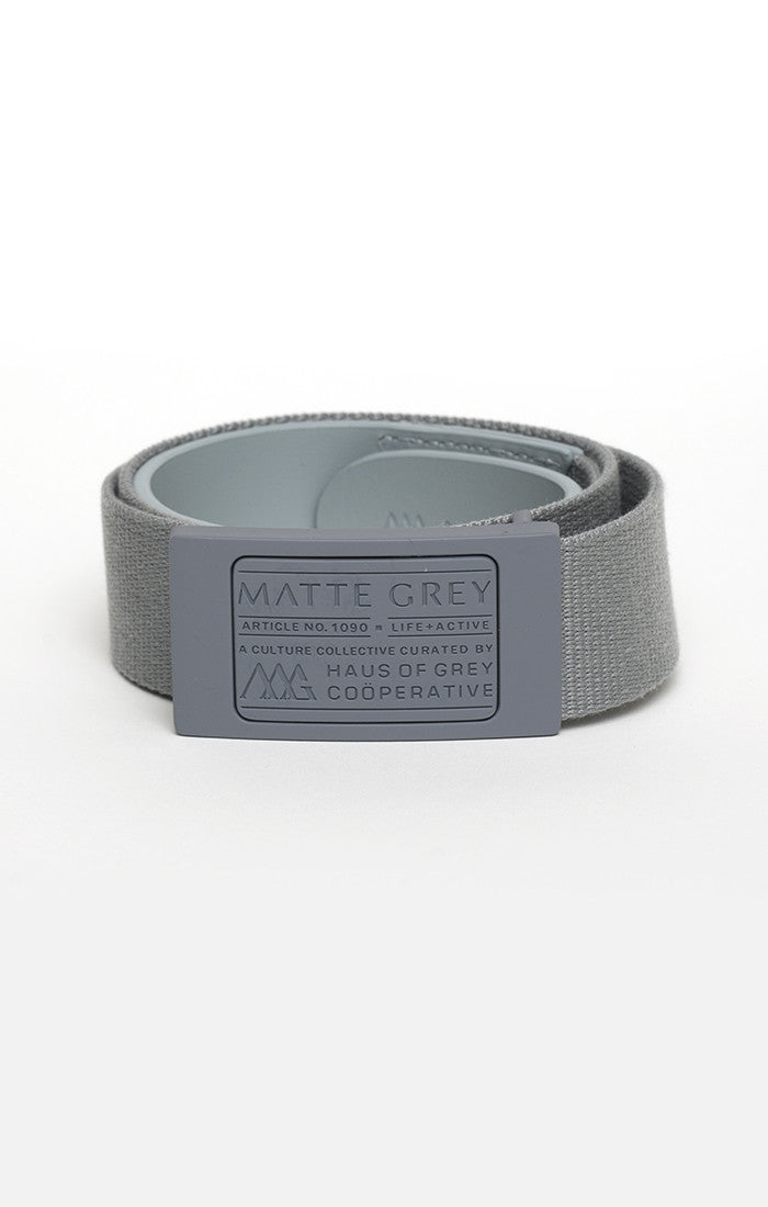 Badge Belt - Matte Grey (Lt Grey)