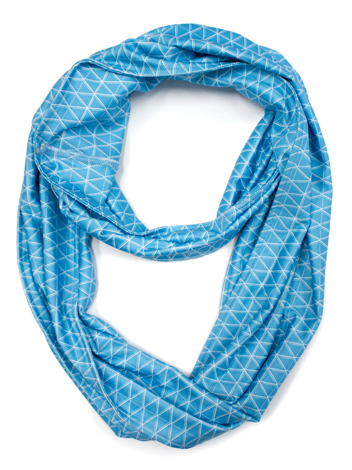 Diamond Infinity Scarf - White (Maya Blue)