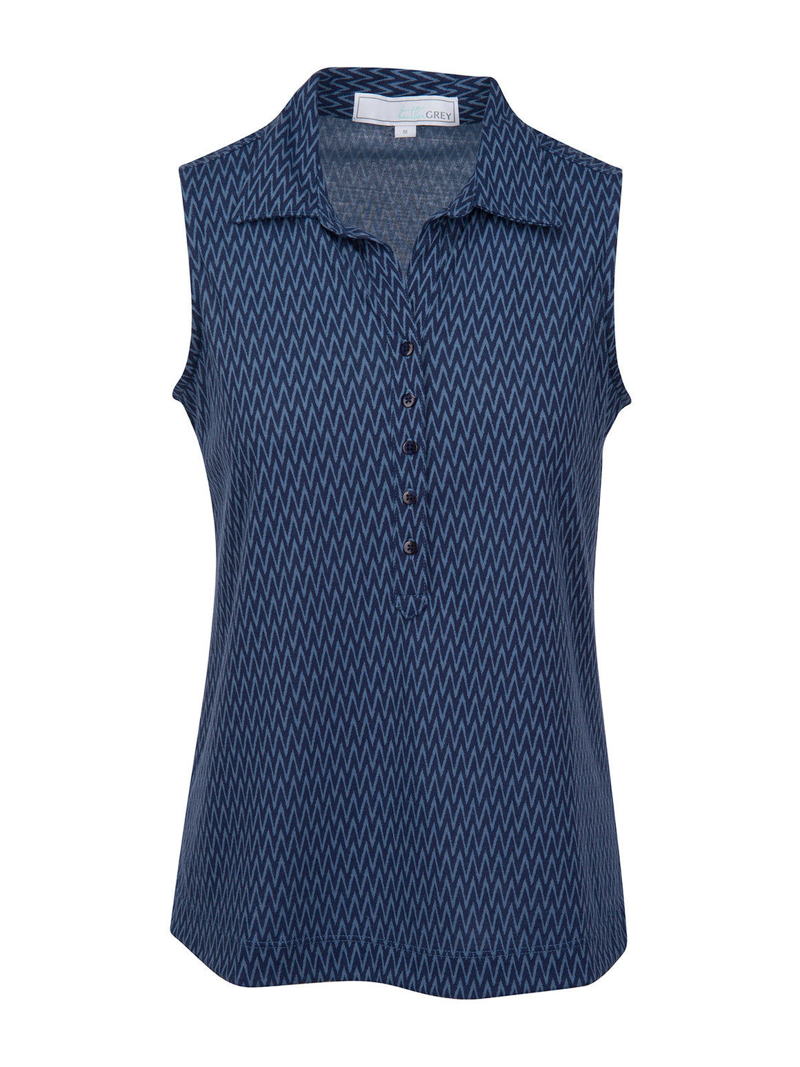 Julia Sleeveless - Flint Stone (Navy)