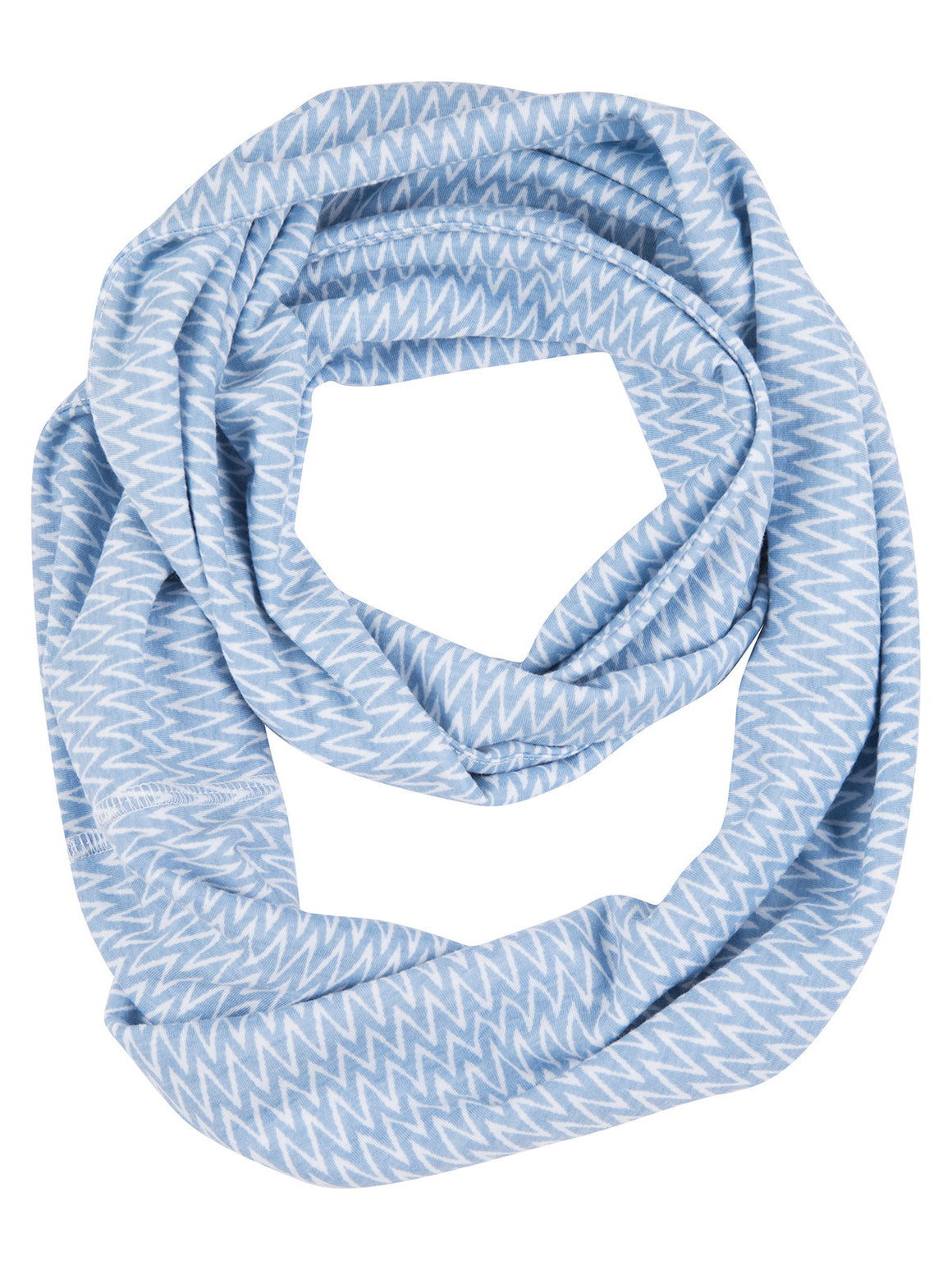 Infinity Scarf - White (Winter Blue)