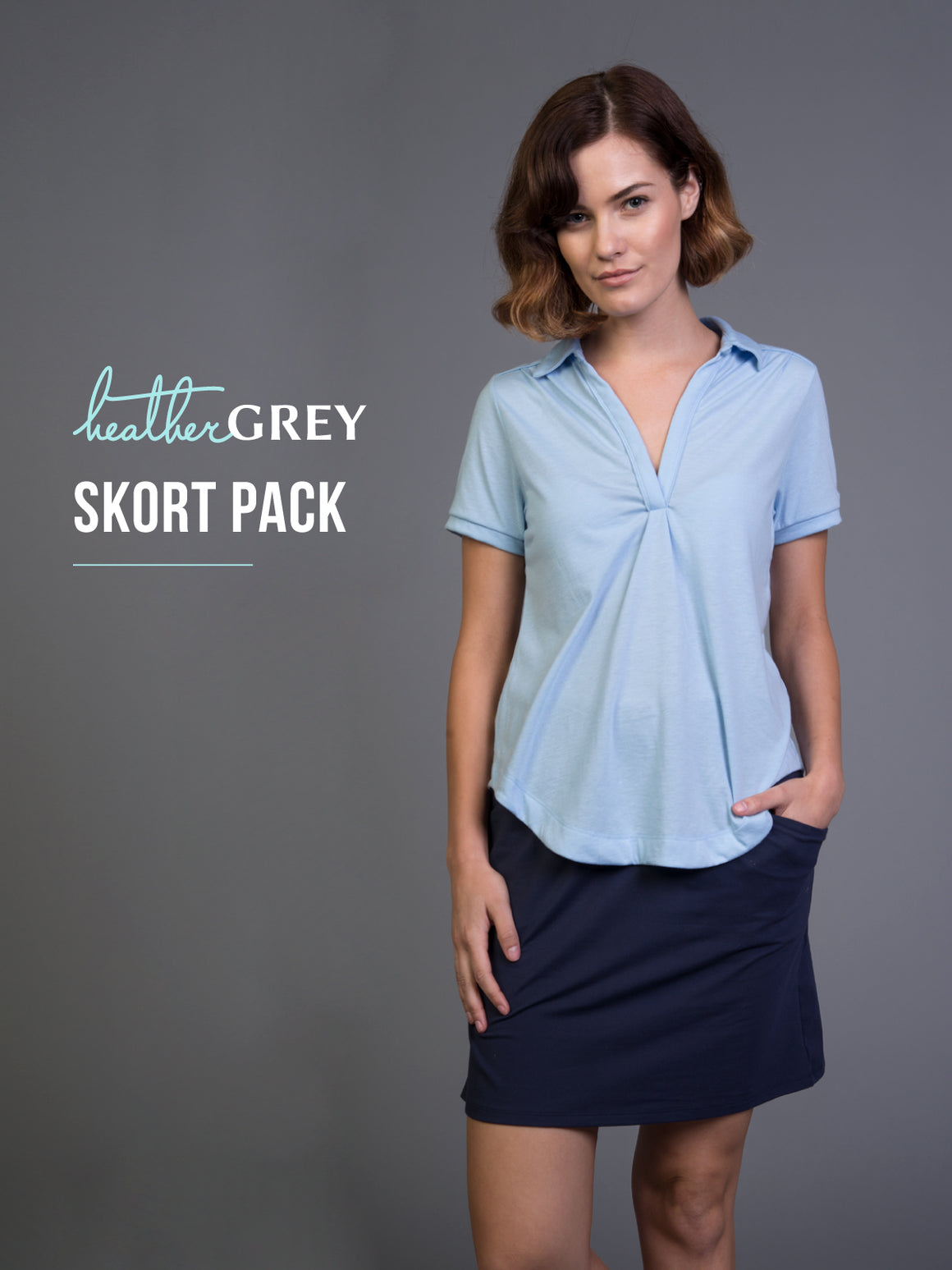 Heather Grey Mystery Skort Pack