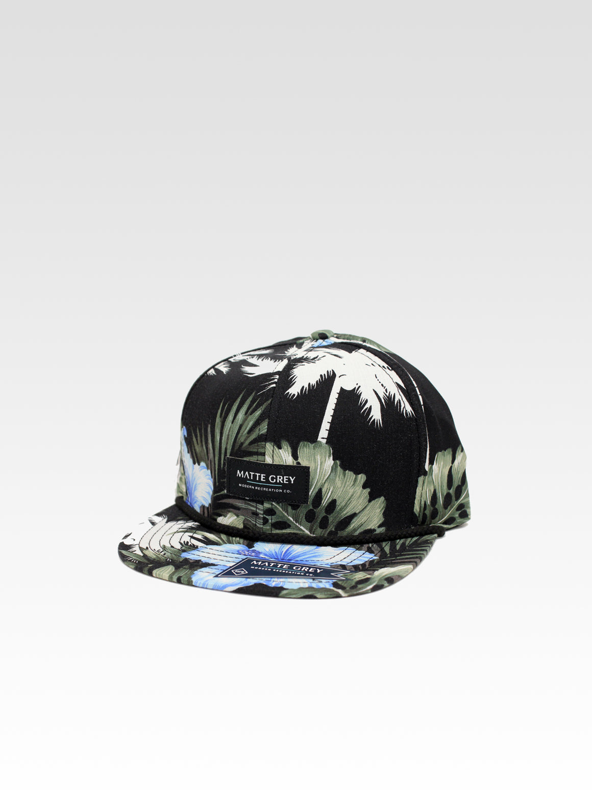 MDRN Aloha Strapback - Black (White Cream / Olive / Light Denim)