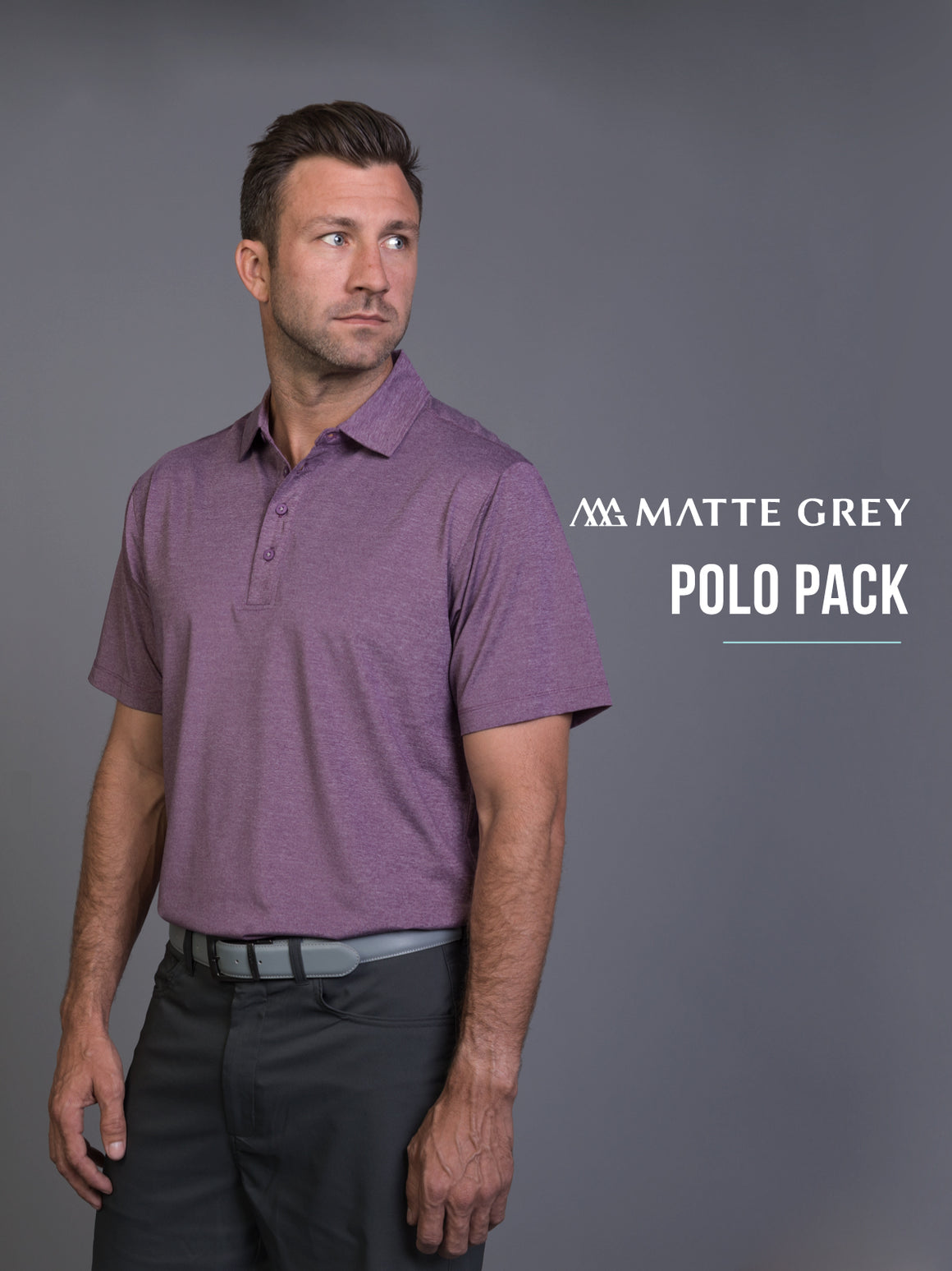 Matte Grey Mystery Polo Pack