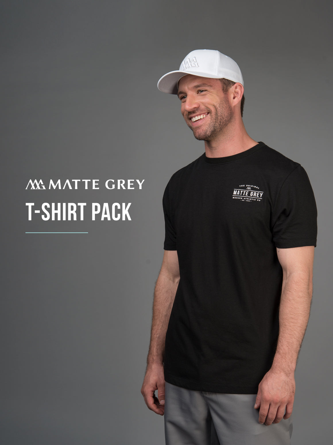 Matte Grey Mystery T-Shirt Pack