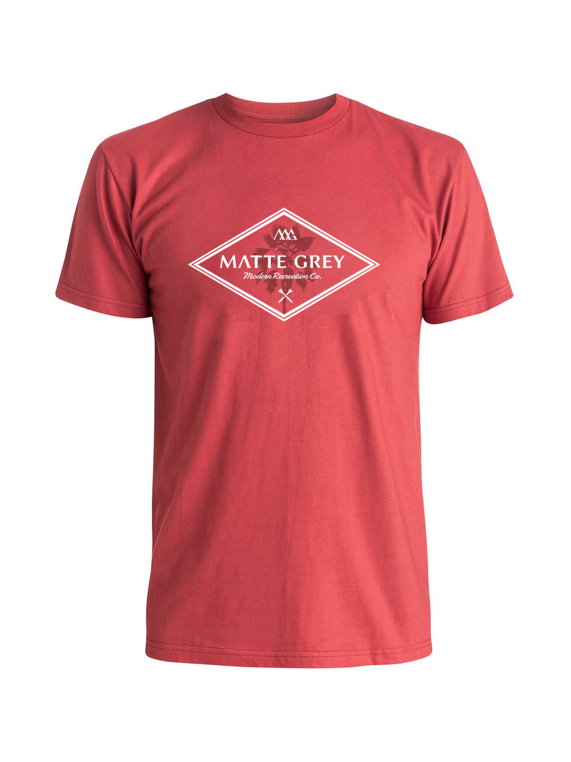 Modern Palm Tee Shirt -  Red (White)