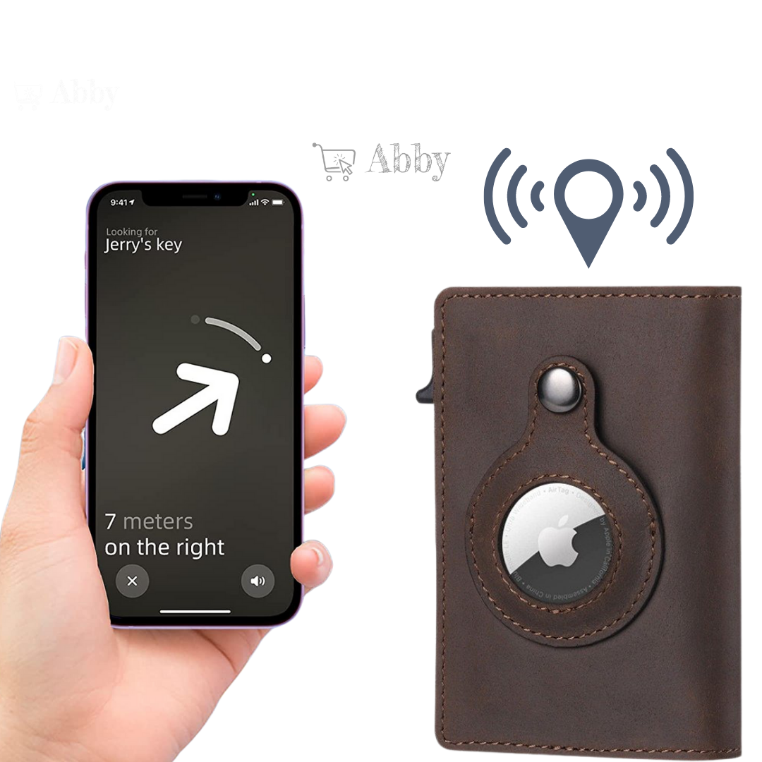 Abby's™ Anti-Lost Slim Wallet with Apple AirTag Case - RFID Protection
