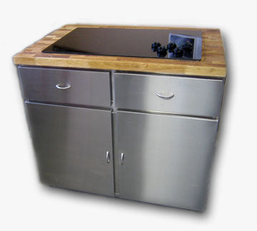 Stainless Steel Cabinets and Counters