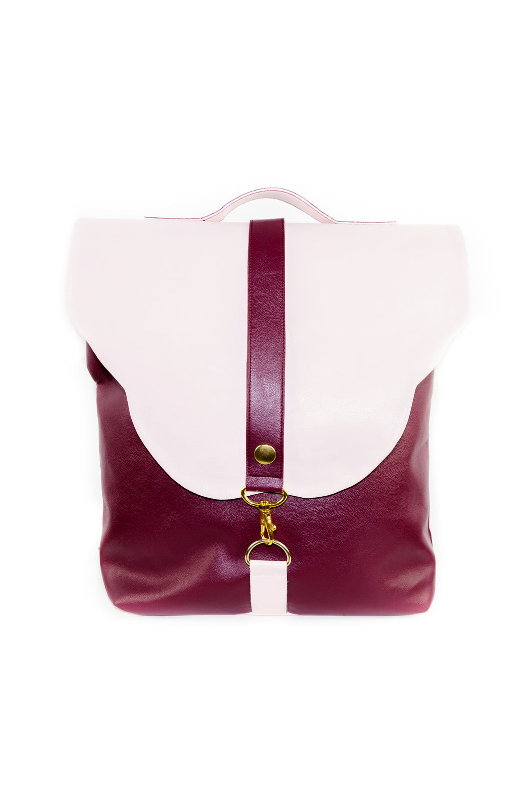 "Backpack ""MARIPOSA 2"" – Bordeaux & Pearl Pink"