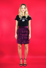 "Load image into Gallery viewer, Panel Skirt with Lacing ""LILAC VELVET"""