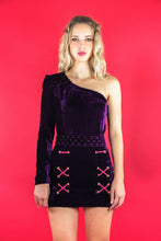 "Load image into Gallery viewer, Asymmetric Dress ""LILAC VELVET"""