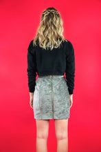 "Load image into Gallery viewer, Military Skirt ""LIGHT GREY VELVET"""