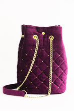 "Load image into Gallery viewer, Bucket Bag ""LILAC VELVET"""