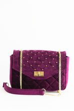"Load image into Gallery viewer, Shoulder Bag ""LILAC VELVET"""