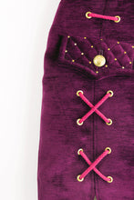 "Load image into Gallery viewer, Military Skirt ""LILAC VELVET"""