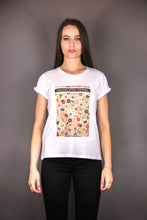 "Load image into Gallery viewer, Oversized Tee ""FLOWERS PRINT"" - white"