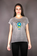 "Load image into Gallery viewer, Oversized Tee ""FLOWERS KOREAN"" - grey"
