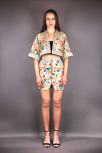 "Load image into Gallery viewer, Bodycon Skirt ""FLOWERS"" - beige"
