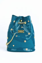 Load image into Gallery viewer, Bucket Bag in vegan Patent Leather - petrol