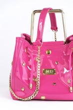 Load image into Gallery viewer, Box Bag in vegan Patent Leather - pink