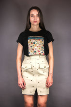 "Load image into Gallery viewer, Oversized Tee ""FLOWERS PRINT"" - black"