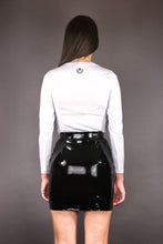 Load image into Gallery viewer, Bodycon Skirt in vegan Patent Leather - black
