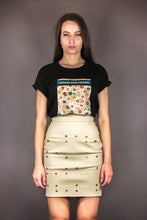 "Load image into Gallery viewer, Panel Skirt ""FLOWERS"" - beige"