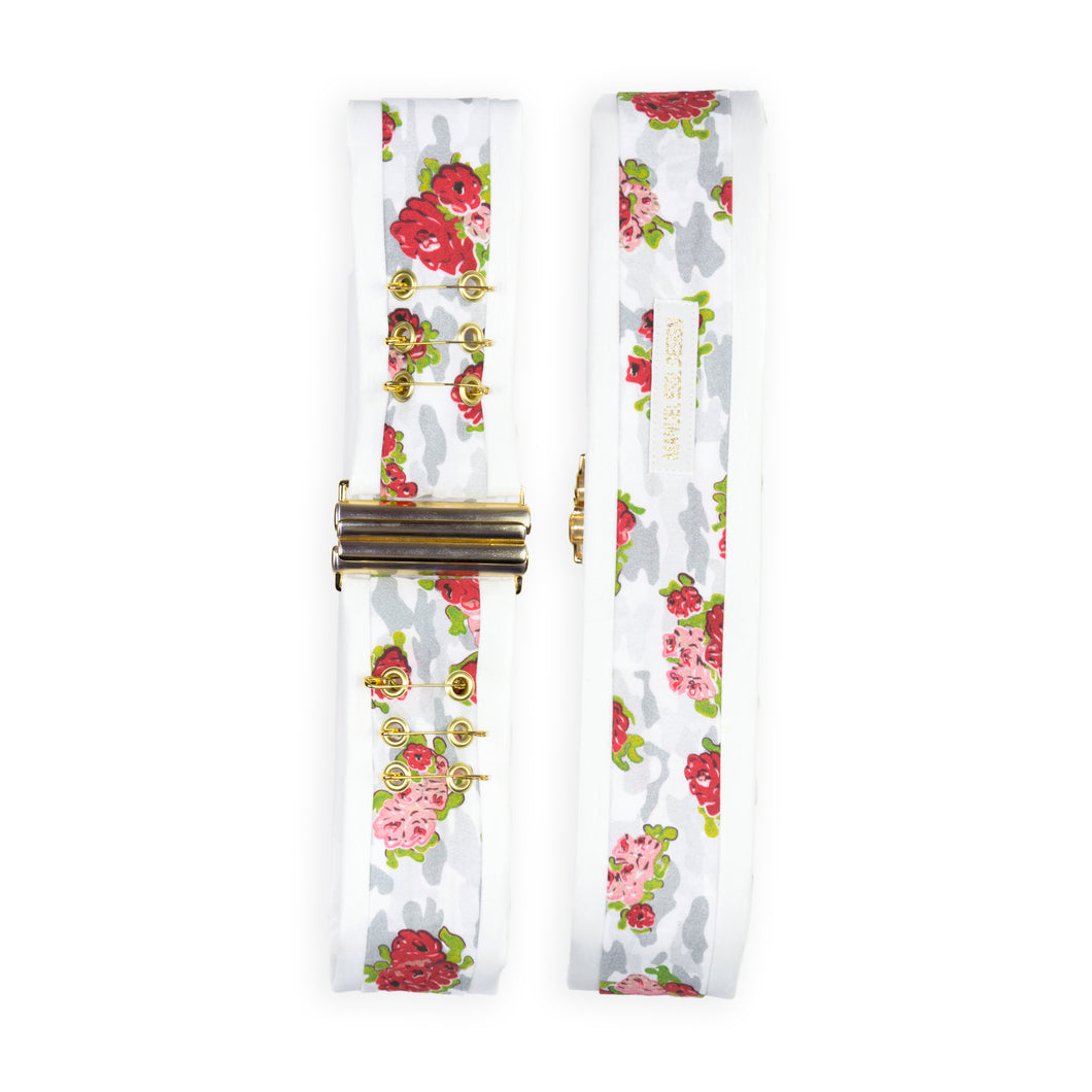 Waist Belt with Safety Pin Fastening - White