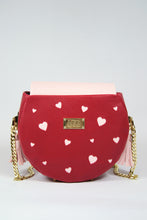 "Load image into Gallery viewer, Circle Bag ""LOVE"" - Cherry Red"