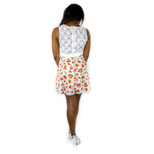 Load image into Gallery viewer, Mini Skater Dress with Lace Details - White