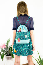 "Load image into Gallery viewer, Gym Bag ""IDA"" - Turquoise"