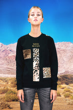"Load image into Gallery viewer, Pullover ""PATCHWORK LEO"" - black"