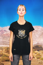 "Load image into Gallery viewer, Oversized Tee ""CARTOON LEO"" - black"