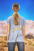 "Load image into Gallery viewer, Oversized Tee ""CARTOON LEO"" - grey"