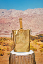 "Load image into Gallery viewer, Cylinder Bag ""LEO"" - gold"