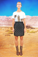 "Load image into Gallery viewer, Quilted Skirt ""LEO"" - black"