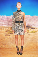 "Load image into Gallery viewer, Bodycon Asymmetric Dress ""LEO"" - all leo"