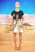 "Load image into Gallery viewer, Flared Utility Wrap Skirt ""LEO"" - gold"