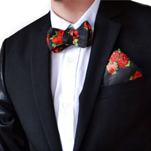 Load image into Gallery viewer, RNF Bow Tie & Pocket Square - Black