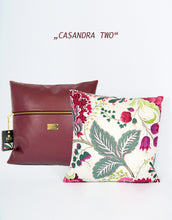 "Load image into Gallery viewer, Pillow ""CASANDRA"" (cover) - Bordeaux"